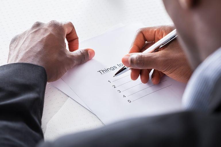 Elder Law Attorney looking at checklist