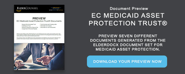 EC Medicaid Asset Protection Trust Document Preview