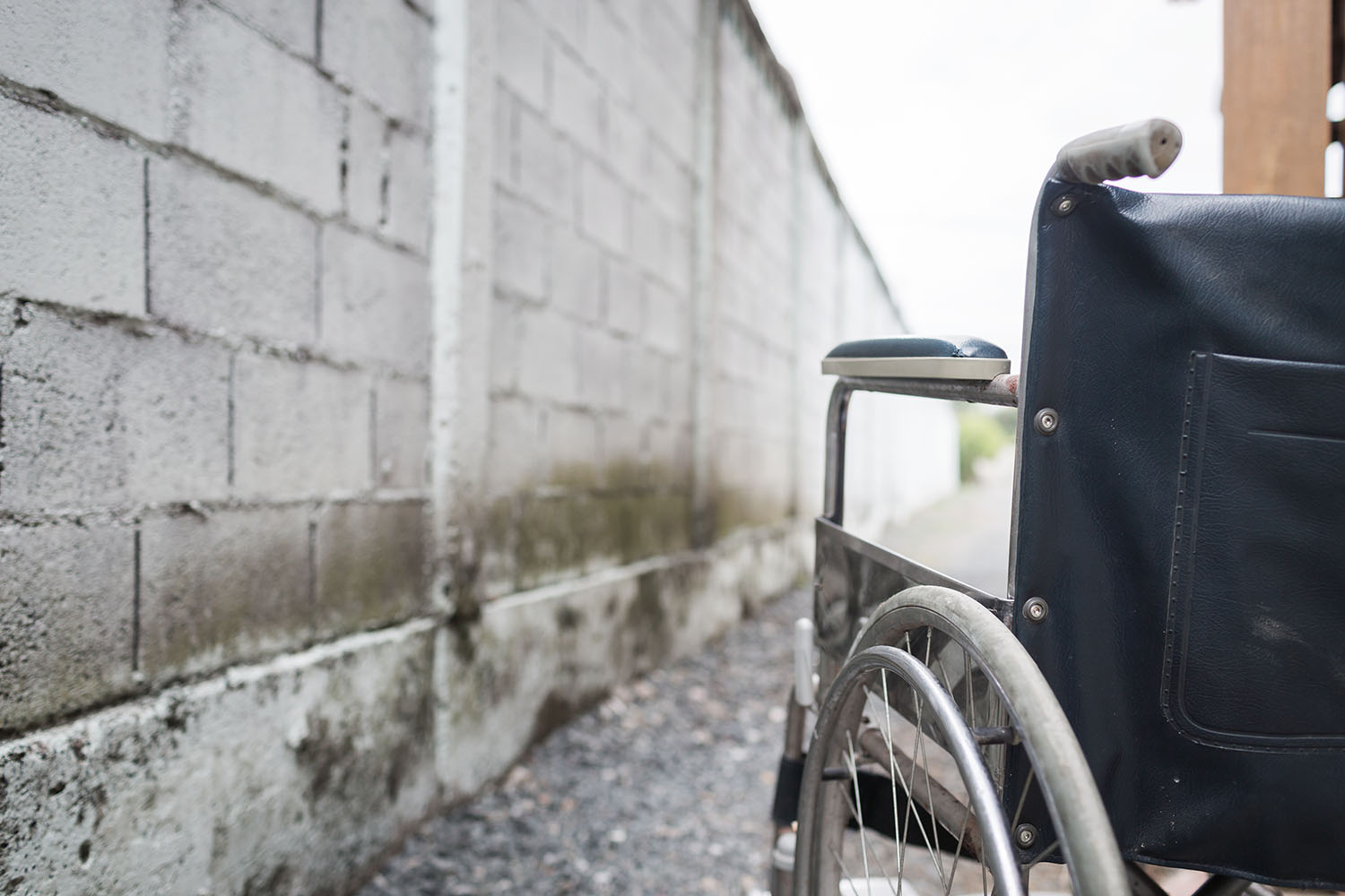 wall and wheelchair